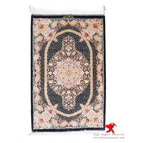 Medallion Design Silk Qum Rug - RQ5002