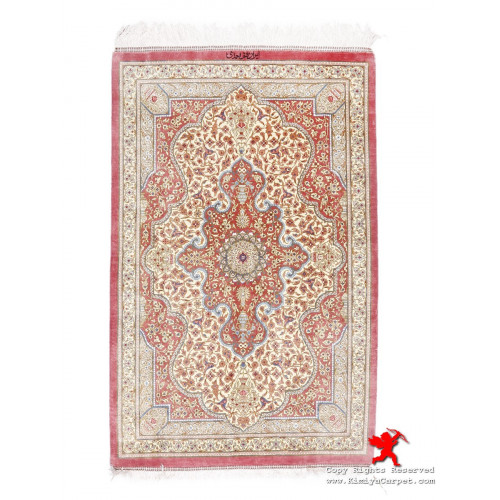 Medallion Design Silk Qum Rug - RQ5004