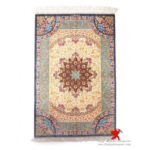 Medallion Design Silk Qum Rug - RQ5008
