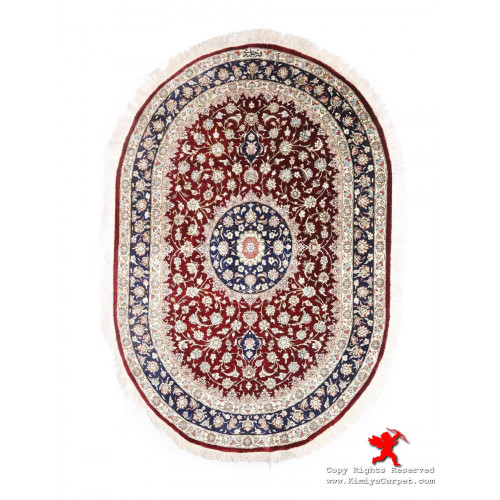 Medallion Design Silk Qum Rug - RQ5013