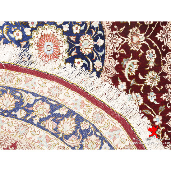 Medallion Design Silk Qum Rug - RQ5013