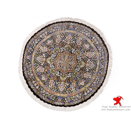 Medallion Design Silk Qum Rug - RQ5017