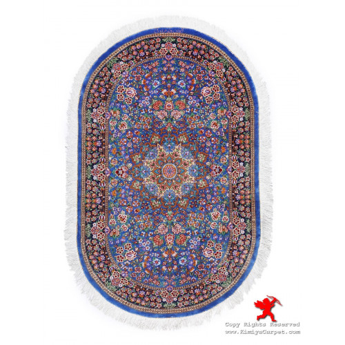 Medallion Design Silk Qum Rug - RQ5023