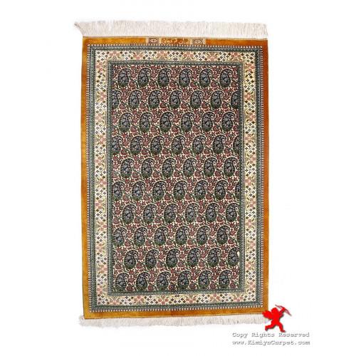 Paisley Design Silk Qum Rug - RQ5027