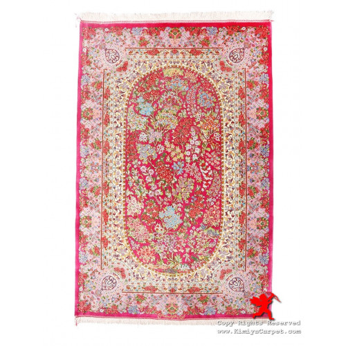 Medallion Design Silk Qum Rug - RQ5028