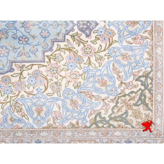 Medallion Design Silk Qum Rug - RQ5030