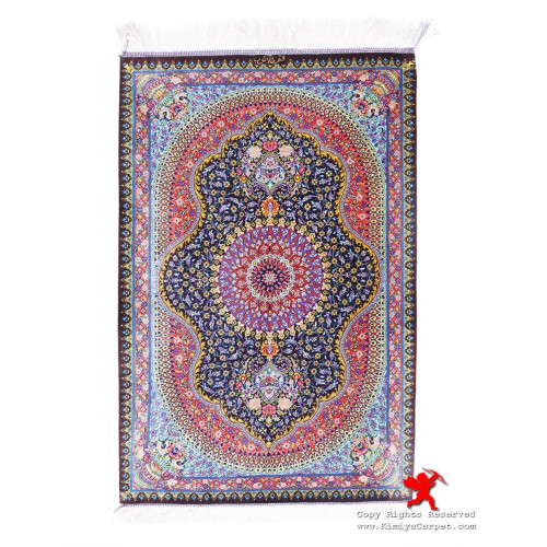 Medallion Design Silk Qum Rug - RQ5032