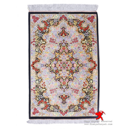 Medallion Design Silk Qum Rug - RQ5034