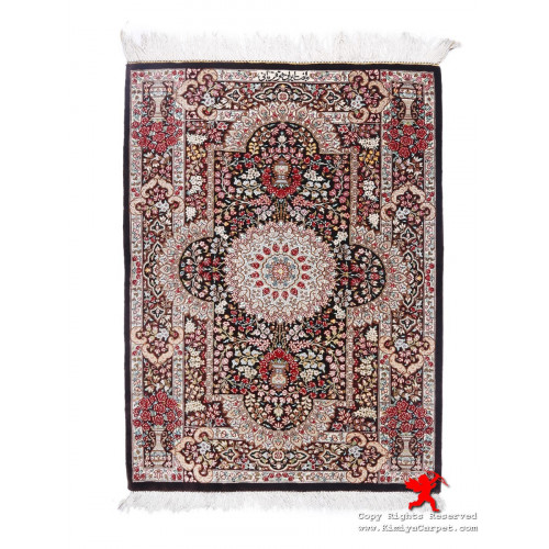 Medallion Design Silk Qum Rug - RQ5037