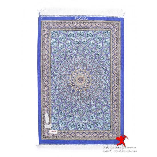 Gonbadi Design Silk Qum Rug - RQ5038