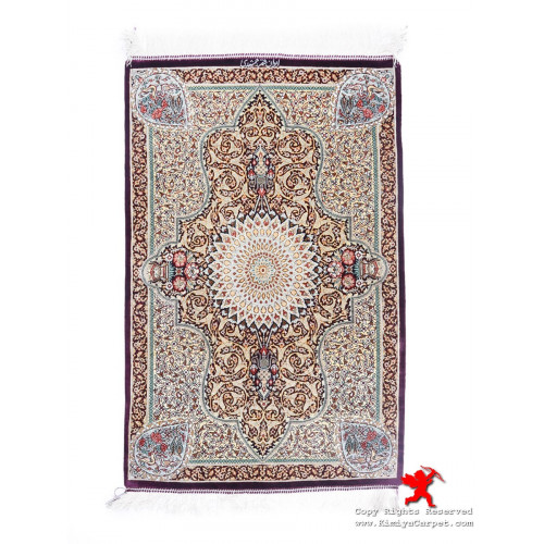 Medallion Design Silk Qum Rug - RQ5039