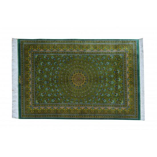 Gonbadi Design Pattern   Silk Qom Rug    RQ6029