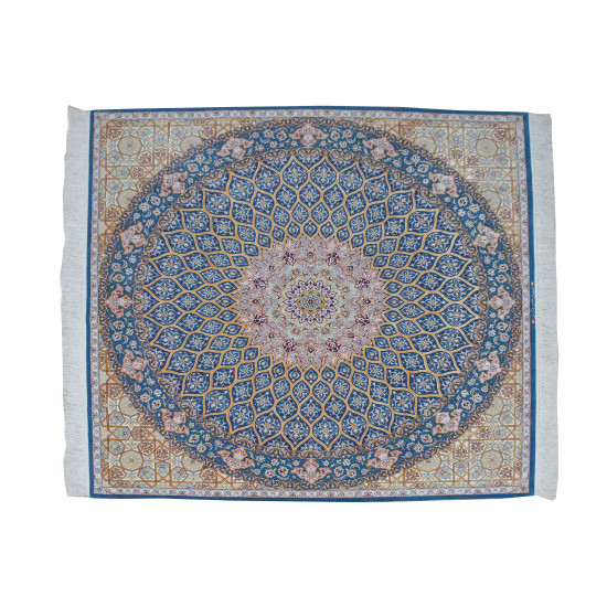 Gonbadi Pattern   Wool Isfahan Rug    RI6002