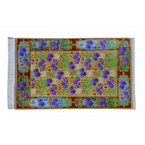 Flower Design One Way Pattern | Silk Qom Rug  | RQ6039