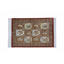 Paisely Design Pattern   Silk Qom Rug    RQ6022