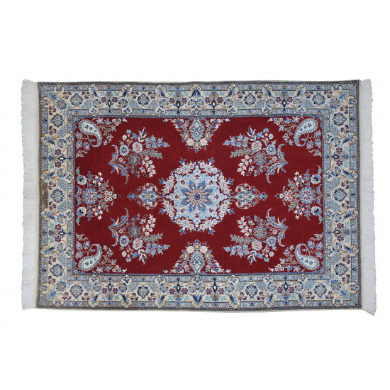 Medalion Design Pattern   Wool Nain Rug    RN6002