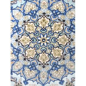 Medalion Eslimi Design Silk & Wool Isfahan Persian Rug  -  RI5001