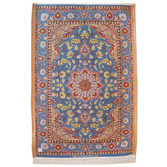 Medalion Design Silk & Wool Isfahan Persian Rug  -  RI5002