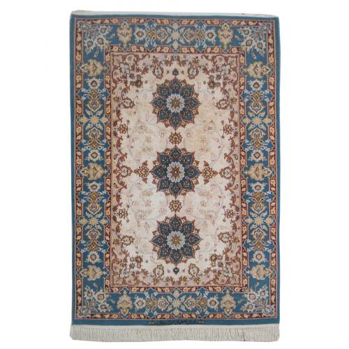 Medalion Design Silk & Wool Isfahan Persian Rug  -  RI5003