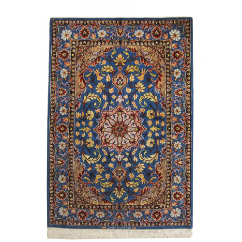Medalion Design Silk & Wool Isfahan Persian Rug  -  RI5007