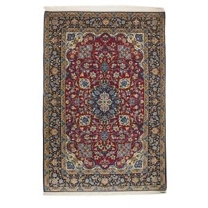 Medalion Design Silk & Wool Isfahan Persian Rug  -  RI5008