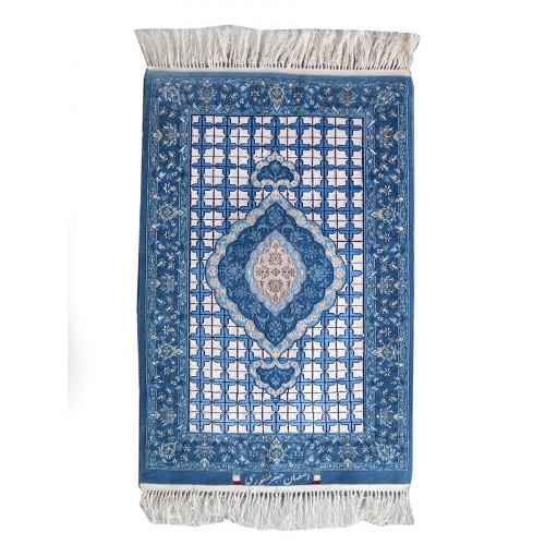 Medalion Design Silk & Wool Isfahan Persian Rug  -  RI5011