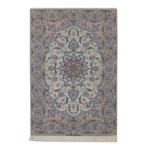 Medalion Design Silk & Wool Isfahan Persian Rug  -  RI5018