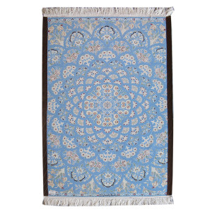 Medalion Design Silk & Wool Isfahan Persian Rug  -  RI5019