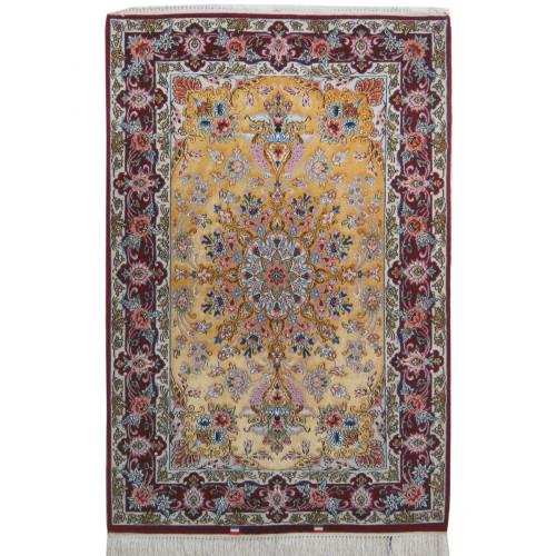 Medalion Design Silk & Wool Isfahan Persian Rug  -  RI5020
