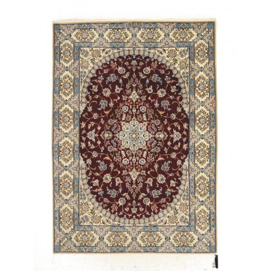 Medalion Design Wool & Cotton Nain Persian Rug  -  RN5000