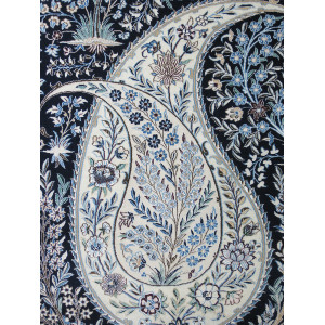 Medalion Design Wool & Cotton Nain Persian Rug  -  RN5008