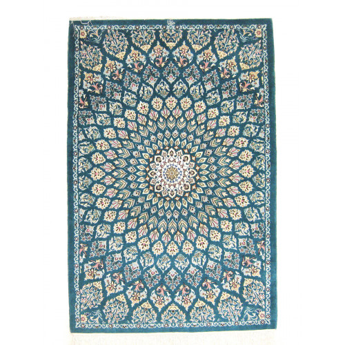 Gonbadi Design Wool & Cotton Nain Persian Rug  -  RN5002