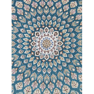 Gonbadi Design Wool & Cotton Nain Persian Rug  -  RN5002