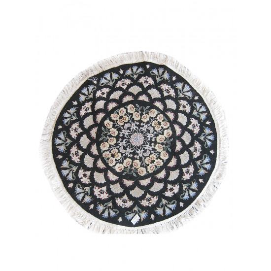 Medalion Design Wool & Cotton Nain Persian Rug  -  RN5004