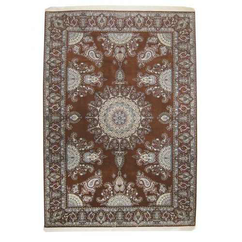 Medalion Design Wool & Cotton Nain Persian Rug  -  RN5005