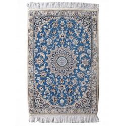 Medalion Design Wool & Cotton Nain Persian Rug  -  RN5008