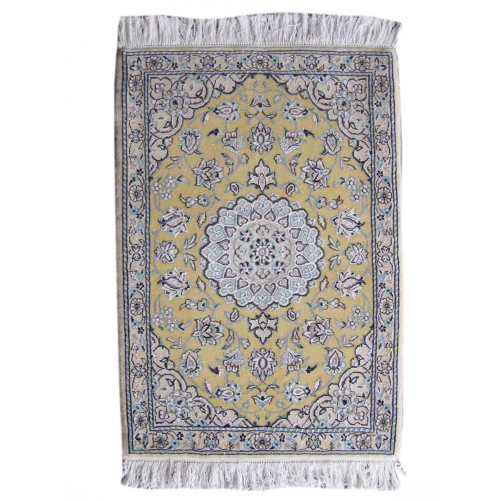 Medalion Design Wool & Cotton Nain Persian Rug  -  RN5010