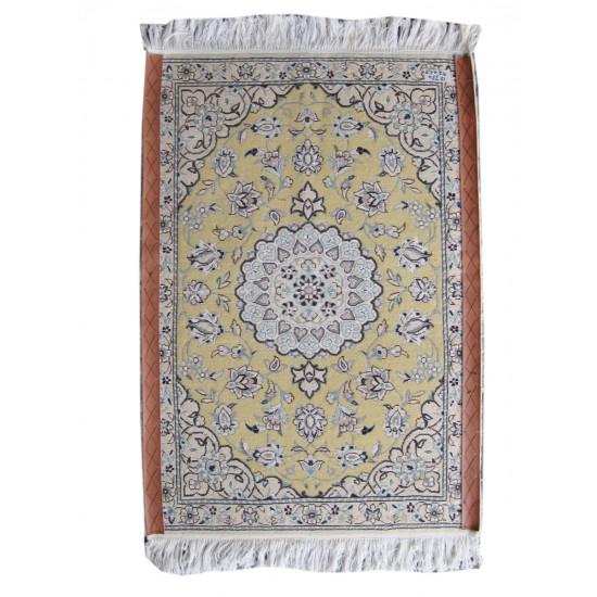 Medalion Design Wool & Cotton Nain Persian Rug  -  RN5010