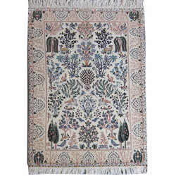 Flower Design Wool & Cotton Nain Persian Rug  -  RN5011