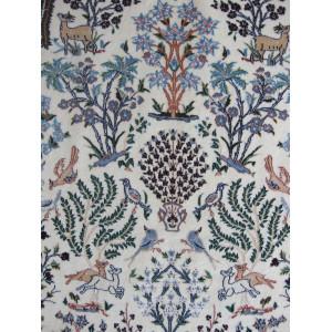 Flower Design Wool & Cotton Nain Persian Rug  -  RN5011