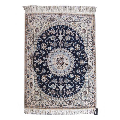 Medalion Design Wool & Cotton Nain Persian Rug  -  RN5012
