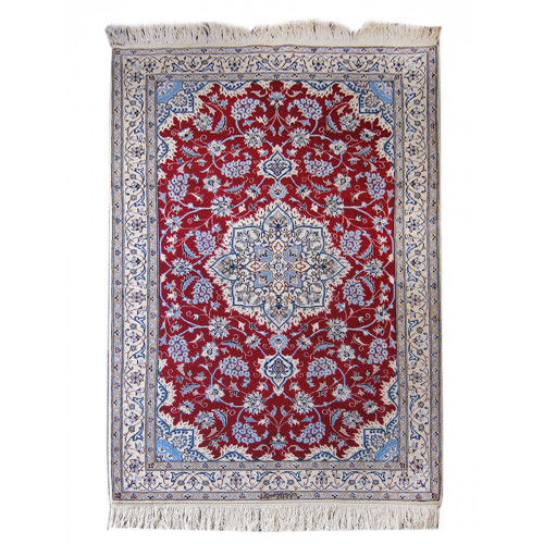 Medalion Design Wool & Cotton Nain Persian Rug  -  RN5013