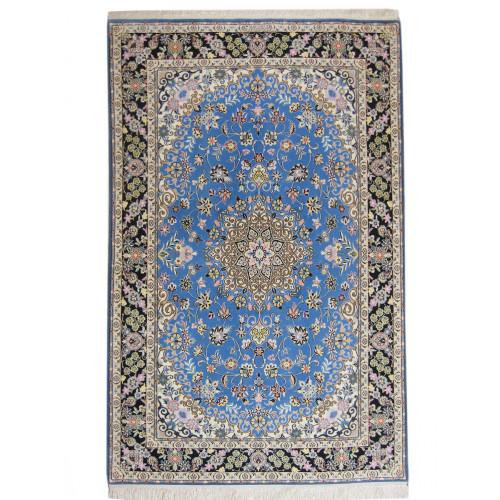 Medalion Design Wool & Cotton Nain Persian Rug  -  RN5014