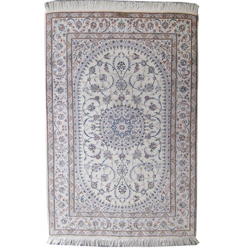 Medalion Design Wool & Cotton Nain Persian Rug  -  RN5016