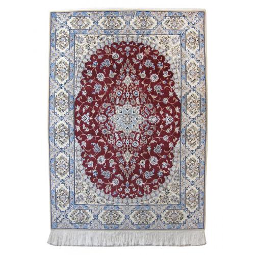 Medalion Design Wool & Cotton Nain Persian Rug  -  RN5017