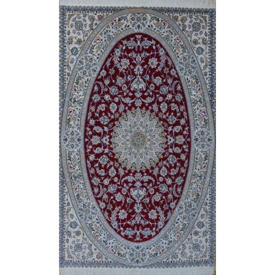Medalion Design Wool & Cotton Nain Persian Rug  -  RN5018