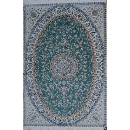 Medalion Design Wool & Cotton Nain Persian Rug  -  RN5019