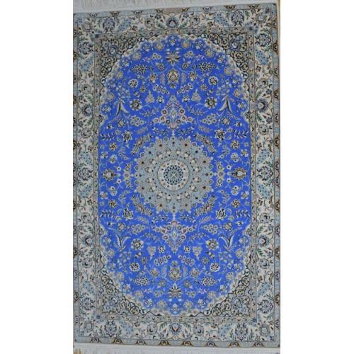 Medalion Design Wool & Cotton Nain Persian Rug  -  RN5020