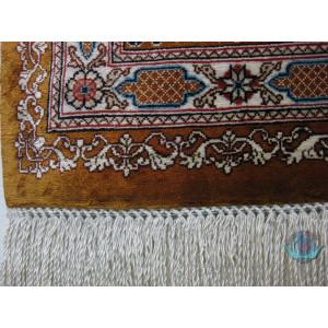 Elegant Kheshti Design Silk Qum Rug - RQ4051