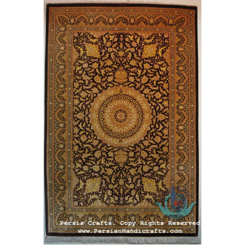 Medallion Design Silk Qum Rug - RQ4052